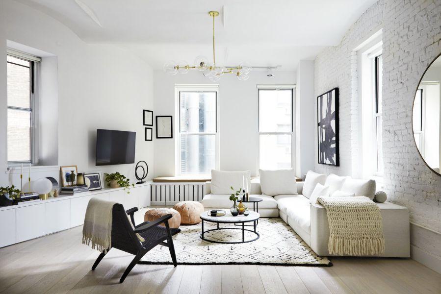Chiêm ngưỡng gam màu trắng cho không gian phòng khách