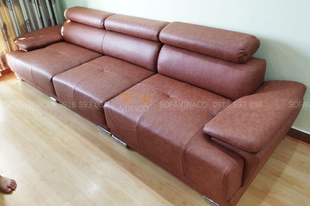 Bộ ghế sofa sau khi được bọc lại cho chị Hà tại Mỹ Đình, Hà Nội