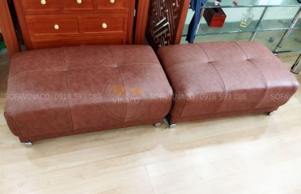 Bộ ghế sofa đã được bọc lại hoàn chỉnh loại bỏ những vết bẩn